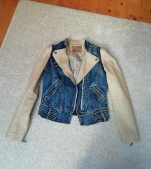 Jeans usnjena jakna