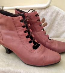 Usnjeni roza pol škornji 39