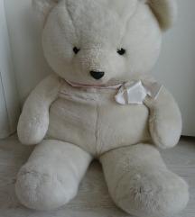 Čudovit mehak velik bel medved (cca. 80 cm)