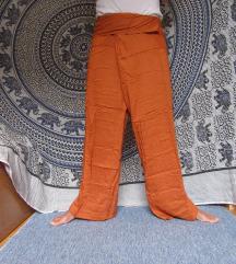Tajske fisherman hlače oranžne