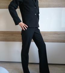 Ženski hlačni kostim, XS, črn, 1x oblečen