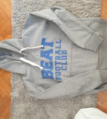 Mehka siva majica s kapuco M