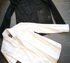 NOVA Moška srajca bela in črna