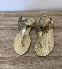 Zlati poletni sandali
