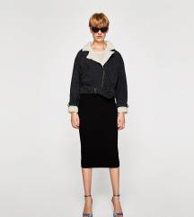 Zara jeans crna jakna