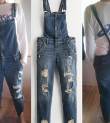 HOLLISTER RIPPED BOYFRIEND JEANS DUNGAREES 40/42