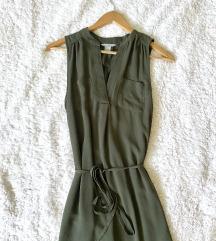 H&m zelena obleka