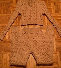 Camel knit komplet majica +pajkice M