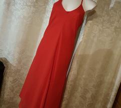 MARIELLA red glam asimetric obleka, NEW!