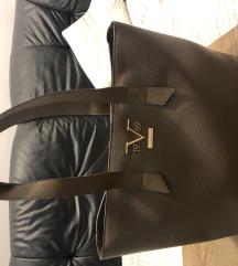 Usnjena torbica Versace