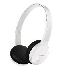 Bele Bluetooth brezžične slušalke Philips