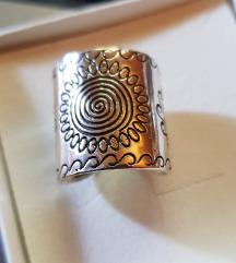 Tibetanski srebrni prstan(925) nov