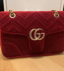 Gucci marmont velvet rdeča torbica