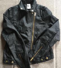 NOVA Črna usnjena jakna