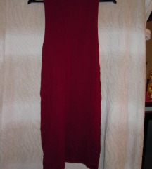 Bordo bodycon obleka