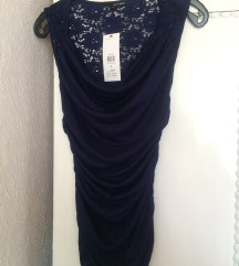 Temno modra obleka~tunika