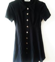 ASOS črna oblekica na gumbke