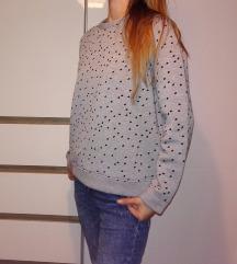 Siv pulover s pikami