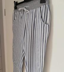 NOVE bombažne raztegljive hlače