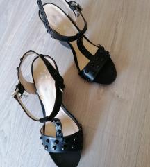 Rocco Barocco usnjeni sandali s peto 39