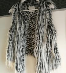 Brezokavnik faux fur 36 38