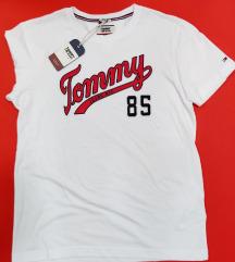 TOMMY JEANS moška bela majica velikosti L