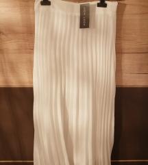 Belo plise krilo / white pleated skirt midi