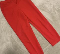 Rdeče elegantne hlače Amisu vel.38