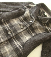 HEINE jakna čista volna karo siv