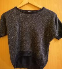 Bleščeč pulover s kratkimi rokavi