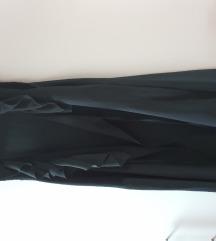 Obleka z volančki na preklop