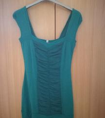 zelena tunika - kratka oblekica