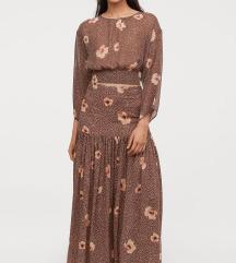 Rjava dvodelna obleka