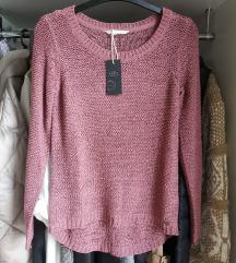 Only NOV roza pulover