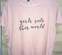 Kratka majica z napisom