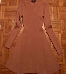 Primark rjava ribbed knit oblekca S