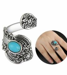 Srebrn prstan z turkizom