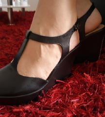 Črni sandali usnjeni NOVI