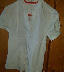 Bela elastična bombažna srajca vel. M/L