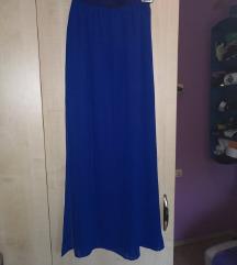 H&M kraljevsko modra dolga obleka
