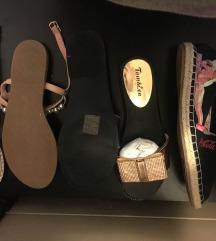 Razlicna poletna obutev