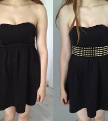 Kratka črna obleka