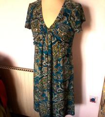 etno obleka  modra vzorčasta,L-XL
