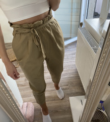 Paper bag hlače Zara
