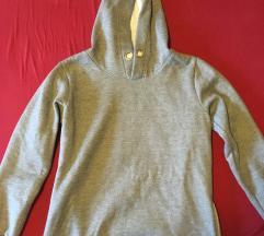 Siv ženski pulover - hoodie