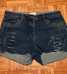 Jeans kratke hlače z visokim pasom L/40