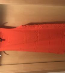 Oranzna kratka obleka + ppt v ceni