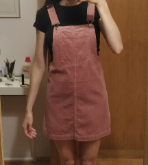 Roza žametna pajac obleka