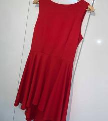 rdeča večerna obleka