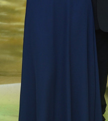 Maturanska obleka TEMNO MODRA